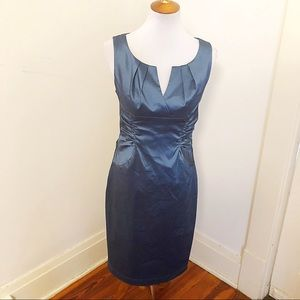 Adrianna Papell cocktail teal evening dress 8